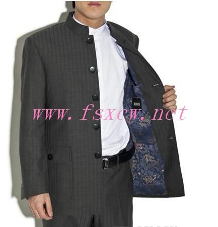 杭州 庄信/冬季新款柒牌中山装西服定做
