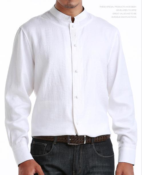 杭州/柒牌立领衬衫定做|定制休闲衬衫|浙江衬衫订做